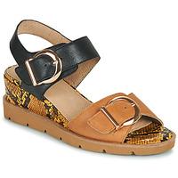 Chaussures Femme Sandales et Nu-pieds Sweet ETOXYS Noir / Camel