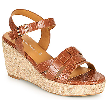 Chaussures Femme Sandales et Nu-pieds The Divine Factory QL4351 Camel