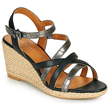 Chaussures Femme Sandales et Nu-pieds The Divine Factory QL4354 Noir