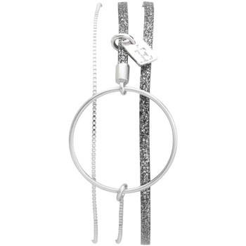Montres & Bijoux Femme Bracelets Flowersforzoé Bracelet Nolah Argent sparkling FA T2 Blanc