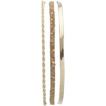 Montres & Bijoux Femme Bracelets Flowersforzoé Bracelet Demy Taupe sparkle FD T1 Jaune