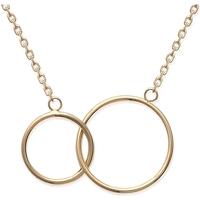 Montres & Bijoux Femme Colliers / Sautoirs Brillaxis Collier  double anneaux doré Jaune
