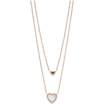 Montres & Bijoux Femme Colliers / Sautoirs Fossil Collier  Hearts To You Rose