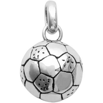 Montres & Bijoux Homme Pendentifs Brillaxis Pendentif  Ballon de foot argent rhodié Blanc