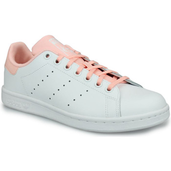 Chaussures Fille Baskets basses adidas Originals Adidas Stan Smith J Blanc Blanc