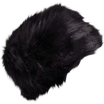 Accessoires textile Femme Bonnets Chapeau-Tendance Toque fausse fourrure LUCERNE Noir