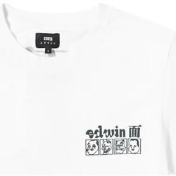 Vêtements Homme T-shirts manches courtes Edwin T-shirt  Hokusai Noh Masks blanc/noir