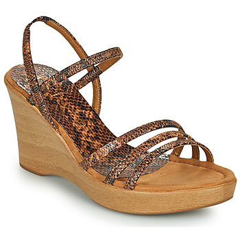 Chaussures Femme Sandales et Nu-pieds Unisa RENERA Marron / Python