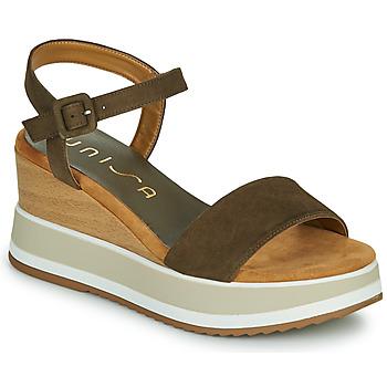 Chaussures Femme Sandales et Nu-pieds Unisa KOLLA Kaki