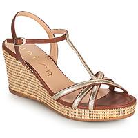 Chaussures Femme Sandales et Nu-pieds Unisa LLINAR Doré