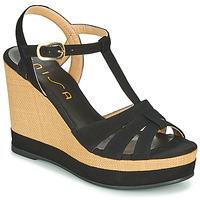 Chaussures Femme Sandales et Nu-pieds Unisa MANACOR Noir