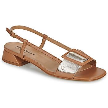 Chaussures Femme Sandales et Nu-pieds Fericelli PANILA Camel / Doré