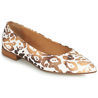 Chaussures Femme Ballerines / babies Fericelli SELENA Blanc / doré