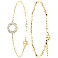 Montres & Bijoux Femme Bracelets Sc Bohème B2267-DORE+B2386-DORE Doré