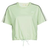 Vêtements Femme T-shirts manches courtes Levi's GINGER NYLON PIECED TEE BOK CHOY, TOFU & CAVIAR Blanc