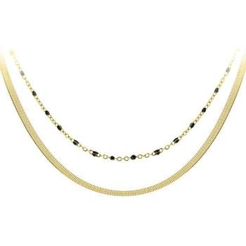 Montres & Bijoux Femme Colliers / Sautoirs Sc Crystal B2304-DORE+B2394-NOIR Doré