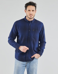 Vêtements Homme Chemises manches longues Lee RIVETED SHIRT WASHED BLUE Bleu