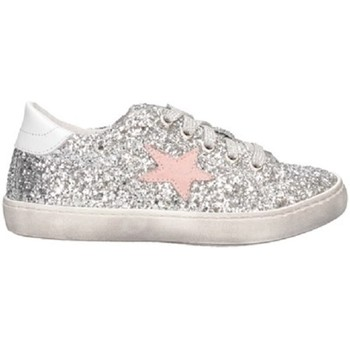 Chaussures Fille Baskets basses Dianetti Made In Italy I9869 Basket Enfant ROSE ROSE