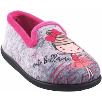 Chaussures Fille Chaussons Neles Rentrer à la maison fille  4325.144 fuxia Gris