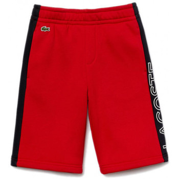 Vêtements Enfant Shorts / Bermudas Lacoste Short Rouge