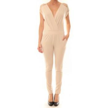 Vêtements Femme Combinaisons / Salopettes Carla Conti Combinaison 155  Beige Beige