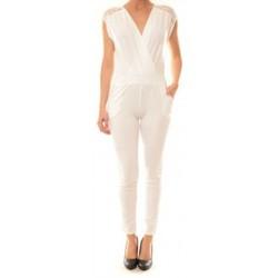 Vêtements Femme Combinaisons / Salopettes Carla Conti Combinaison 155  Blanche Blanc