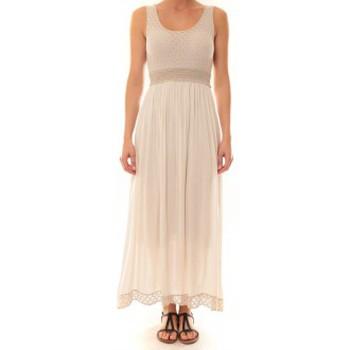 Vêtements Femme Robes longues La Vitrine De La Mode Robe Z1392 By La Vitrine Beige Beige