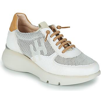 Chaussures Femme Baskets basses Hispanitas TELMA Blanc / Doré