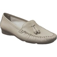 Chaussures Femme Mocassins Marco GIL CUIR Beige