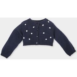 Vêtements Fille Gilets / Cardigans Tutto Piccolo Veste longue Bleu