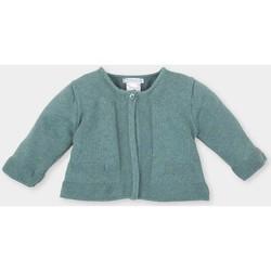 Vêtements Fille Gilets / Cardigans Tutto Piccolo Veste longue Vert