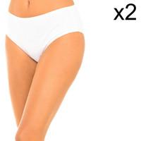 Sous-vêtements Femme Culottes & slips PLAYTEX Lot de 2 culottes Blanc