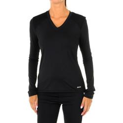 Vêtements Femme T-shirts manches longues Shock Absorber Amortisseur de sport T-shirt manches longues Noir