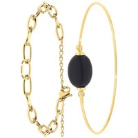 Montres & Bijoux Femme Bracelets Sc Bohème B2369-DORE+B2492-NOIR Doré