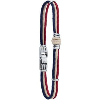 Montres & Bijoux Homme Bracelets Jourdan Bracelet homme  Whitehaven corde tricolore Blanc