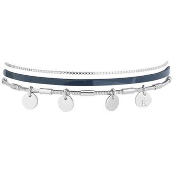 Montres & Bijoux Femme Bracelets Flowersforzoé Bracelet Rosalie Vernis bleu prusse FA T1 Blanc