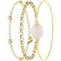 Montres & Bijoux Femme Bracelets Sc Bohème B2371-DORE+B2379-DORE+B2492-ROSE Doré