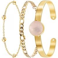Comment faire un retour Femme Bracelets Sc Bohème B2371-DORE+B2384-DORE+B2494-ROSE Doré