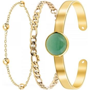 Comment faire un retour Femme Bracelets Sc Bohème B2371-DORE+B2384-DORE+B2494-VERT Doré