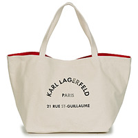 Sacs Femme Cabas / Sacs shopping Karl Lagerfeld RUE ST GUILLAUE CANVAS TOTE Ecru