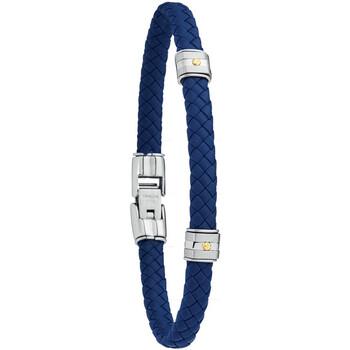 Montres & Bijoux Homme Bracelets Jourdan Bracelet homme  Hudson cuir synthétique bleu Bleu
