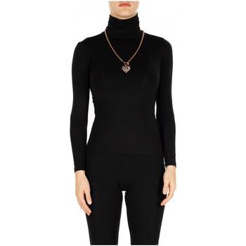 Vêtements Femme T-shirts manches longues Luckylu T-SHIRT ML COLLO ALTO 0700-nero
