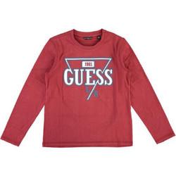 Vêtements Enfant T-shirts manches longues Guess T Shirt manches longues Garçon rouge L94I46