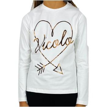 Vêtements Fille T-shirts manches courtes Vicolo 3141M0545 T-shirt Enfant CRÈME CRÈME