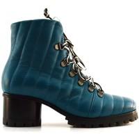 Chaussures Femme Bottines Halmanera MIRNA42 BARON LIBEL Bleu