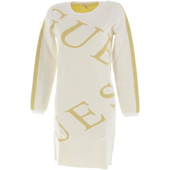 Vêtements Fille Robes courtes Guess Ls ecr dress girl Ecru