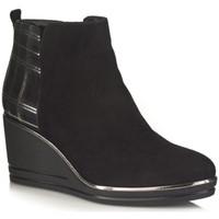 Chaussures Femme Bottines Softwaves 7.53.17 Noir