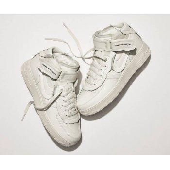 Chaussures Baskets basses Nike Air Force 1 high x Comme des Garçons WHITE/WHITE-BLACK WHITE