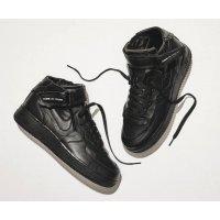 Chaussures Baskets montantes Nike Air Force 1 high x Comme des Garçons  BLACK/BLACK-WHITE-BLACK
