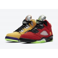 Chaussures Baskets basses Nike Air Jordan 5 What The Maize/Solar Orange-Court Purple